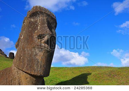 Solitary Moai On Easter Island