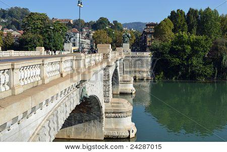 Turin, Italy - Bridge on the river Po