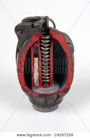 Cut away grenade