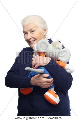 Senior Woman With Toy