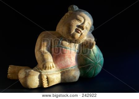 Wooden Souvenir-sleeping Child
