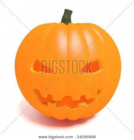 Carved halloween pumpkin head