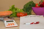 Vegetables Still Life, Diet And Nutrition Concept. Low-calorie Fruit Diet. Diet For Weight Loss poster