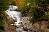 Great Lakes Waterfall poster