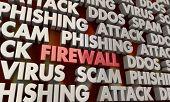 Firewall Security Digital Online Hacking Attack Prevention 3d Illustration poster