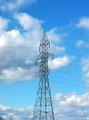 Hydro Tower On The Blue Sky Background (centered) poster