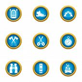 Journey To The Mystery Icons Set. Flat Set Of 9 Journey To The Mystery Vector Icons For Web Isolated poster