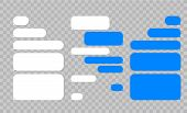 Message Chat Bubbles Vector Icons For Messenger. Template For Message Chat. Vector Illustration poster