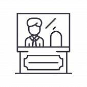 Administrative Personnel Black Icon Concept. Administrative Personnel Flat  Vector Website Sign, Sym poster
