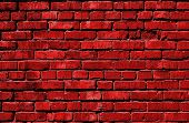 Red Brick Wall. Red Bricks. Grunge Brick Background. Red Brick Background. poster