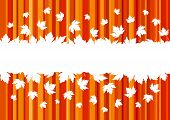 Banner With Colorful Autumn Leaves, Copy Space. Seasonal Banner, Concept Of Autumn. Design For Adver poster