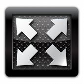 Extend arrow metal icon