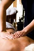 pic of massage therapy  - woman getting a good massage at a day spa - JPG