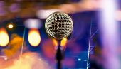 Live Music Background.microphone And Stage Lights.microphone And Stage Lights.concert And Music Conc poster
