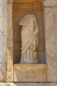 stock photo of brothel  - Antique statue in Celsus library in an antique city the Ephesus - JPG