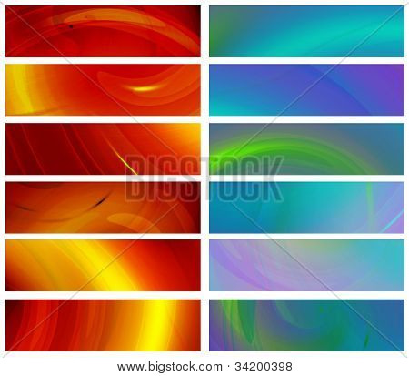 Set Of Abstract Banners 480X1800Px