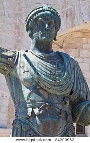 Colossus of Barletta. Puglia. Italy.