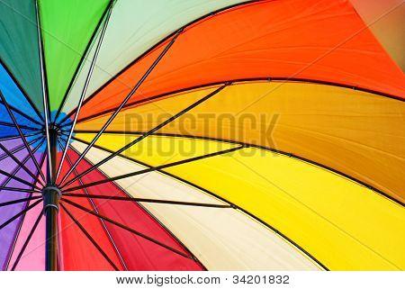 Colourful umbrella background