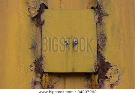 Rusty yellow metal