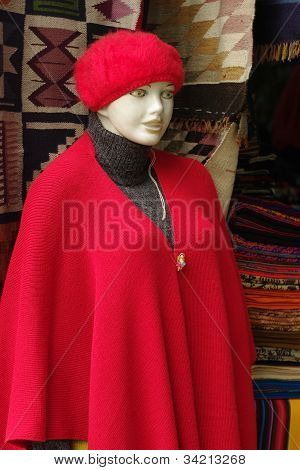 Display Dummy on Inca Market in Lima, Peru