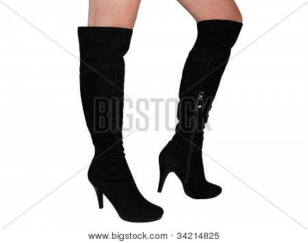 Female Boots Of Black Colour