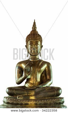 Isolated with Brass Buddha Statue