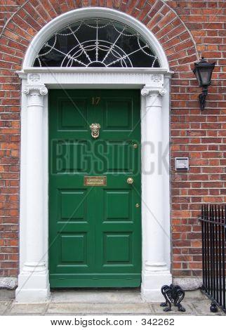 Green Dublin Door