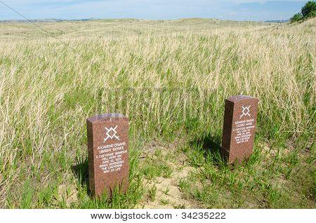 Cheyenne headstones at Custer National Park
