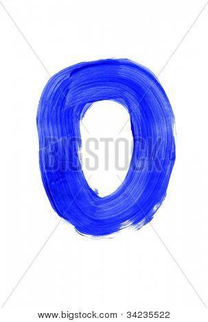 Letter o on white background