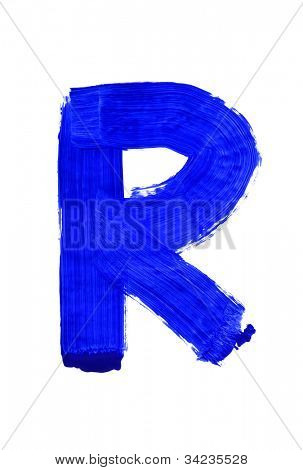 Letter r on white background