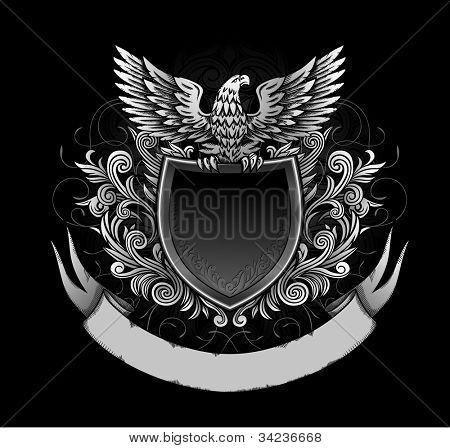 Águia no escudo escuro Insignia