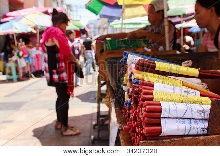 Busy street markets