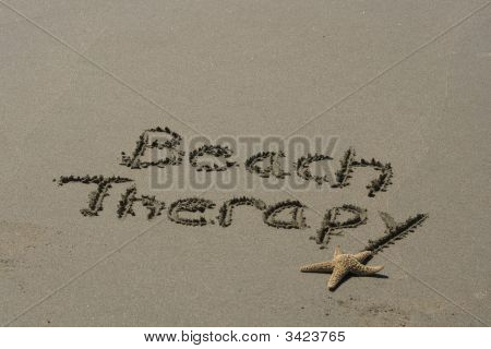 Beach Therapy With Starfish