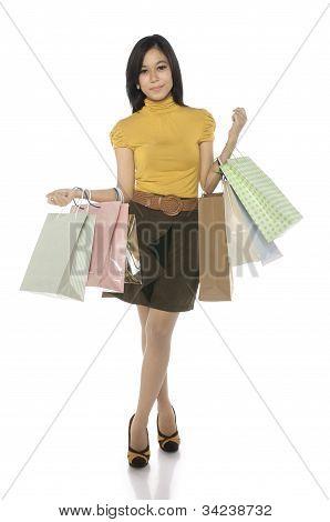 Asian Shopping Woman
