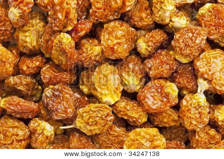 dried goldenberries (physalis peruviana,) , superfruit from Peru rich in antioxidnats, vitamin A, bioflavonoids, and dietary fiber