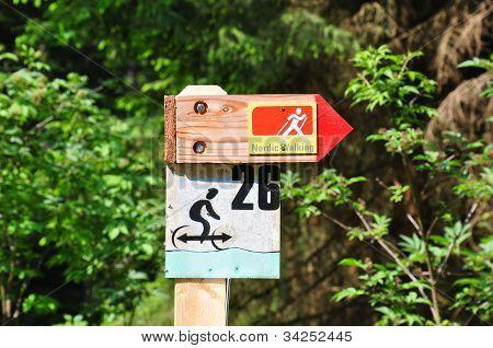 Signo de caminar nórdico