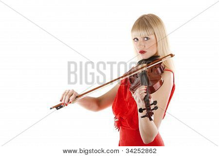 Image A Girl Playing The Violin