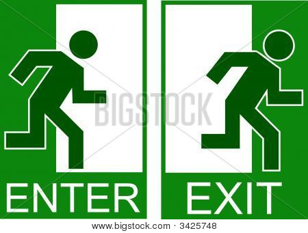 Enter Exit Sign Copy
