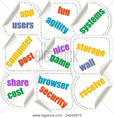 Cloud Computing Concept Design - Stickers Set