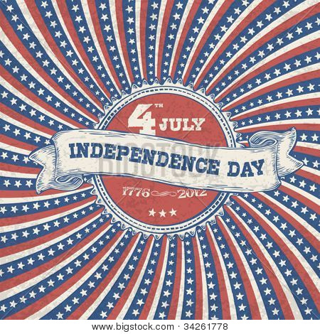 Independence day vintage poster design. Vector, EPS 10.