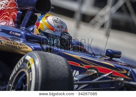 VALENCIA, SPAIN - JUNE 23: Jean-Eric Vergne in the Formula 1 Grand Prix of Europe, Valencia Street Circuit. Spain on June 23, 2012