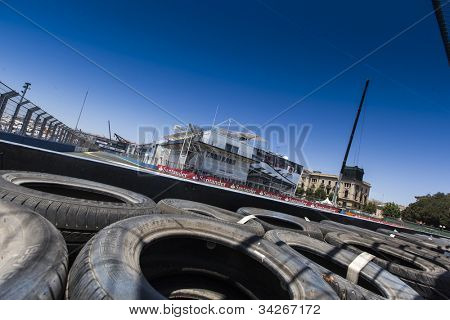 VALENCIA, SPAIN - JUNE 24: The Track in the Formula 1 Grand Prix of Europe, Valencia Street Circuit. Spain on June 24, 2012