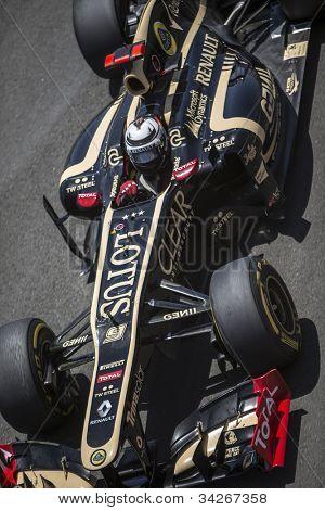 VALENCIA, SPAIN - JUNE 24: Kimi Raikkonen in the Formula 1 Grand Prix of Europe, Valencia Street Circuit. Spain on June 24, 2012