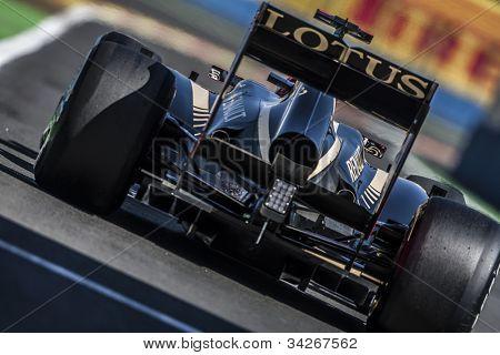 VALENCIA, SPAIN - JUNE 23: Kimi Raikkonen in the Formula 1 Grand Prix of Europe, Valencia Street Circuit. Spain on June 23, 2012
