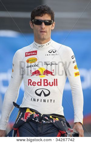 VALENCIA, SPAIN - JUNE 23: Mark webber in the Formula 1 Grand Prix of Europe, Valencia Street Circuit. Spain on June 23, 2012