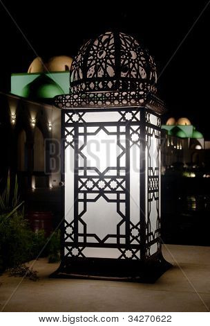 Arabic Retro street lamp at dark night