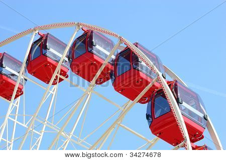 Fairground big wheel.