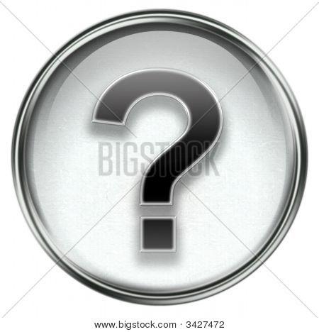 Question Symbol Icon Grey