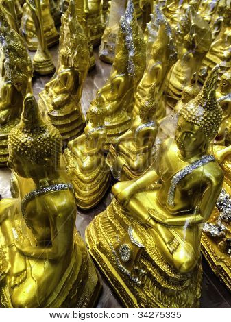 The Golden Buddha Statues