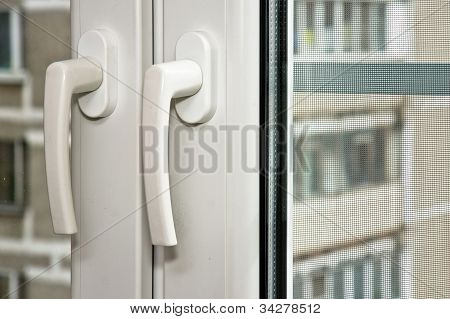 Pvc Handles On Plastic Window